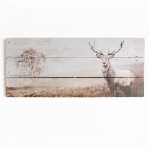 Graham & Brown Stag Wall Art Print On Wood