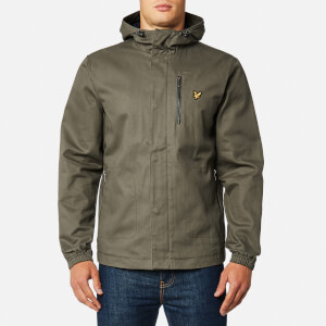 Lyle & Scott Men's Hooded Curved Hem Jacket - Dusty Olive