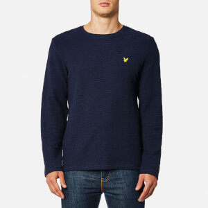 Lyle & Scott Men's Lightweight Slub Sweatshirt - Navy