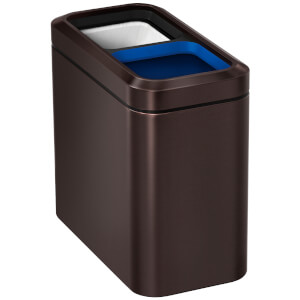 simplehuman Slim Open Recycler Bin - Dark Bronze 20L