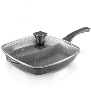 Tower Cerastone 2-in-1 Cast Grill Pan - 28cm - Graphite