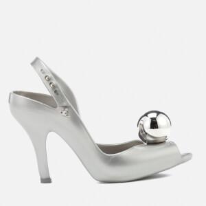 Vivienne Westwood for Melissa Women's Lady Dragon 18 Heeled Sandals - Silver Globe
