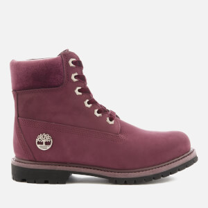 Timberland Women's 6 Inch Water Resistant Boots - Port Royale Waterbuck with Velvet Collar