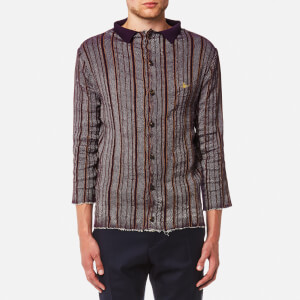 Vivienne Westwood MAN Men's Pilgrim Stripe Knitted Shirt - Purple Stripe