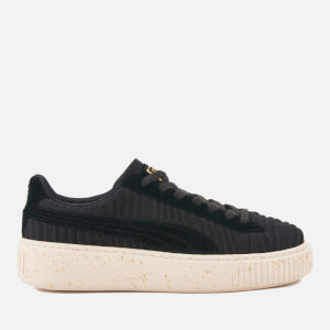 Puma Women's Basket Platform Trainers - Puma Black/Puma Black/Whisper White