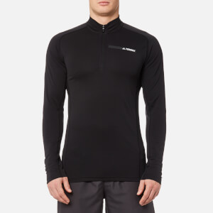 adidas Terrex Men's Tracerocker 1/2 Zip Long Sleeve Top - Black