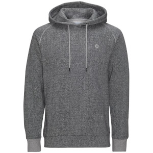 Jack & Jones Men's Core Win Textured Hoody - Light Grey Marl