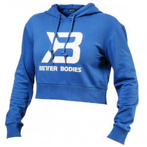 Better Bodies Cropped Hoody - Bright Blue