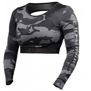 Better Bodies Chelsea cropped long sleeve - Dark camo