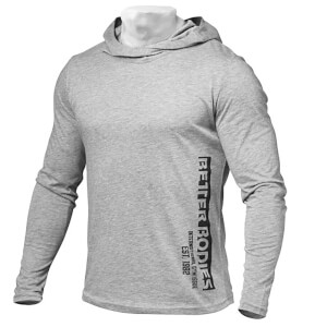 Better Bodies Men's Soft Hoody - Grey Melange