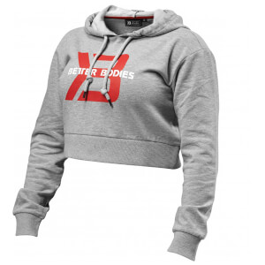 Better Bodies Cropped Hoody - Grey Melnage