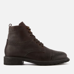 Hudson London Men's Fernie Leather Brogue Lace Up Boots - Brown
