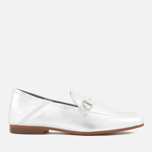 Hudson London Women's Arianna Leather Loafers - Silver