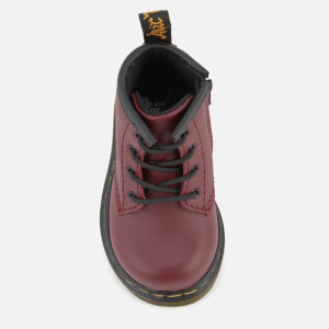 Dr. Martens Toddlers' Brooklee B Leather Lace Up Boots - Cherry Red: Image 3