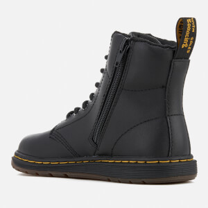Dr. Martens Kids' Lite Malky Leather 8-Eye Lace Up Boots - Black: Image 4