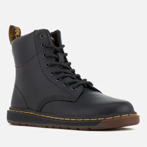 Dr. Martens Kids' Lite Malky Leather 8-Eye Lace Up Boots - Black: Image 2