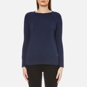 Barbour Women's Lowmoore Knitted Jumper - French Navy