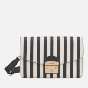 Furla Women's Metropolis Small Satchel Bag - Black/White