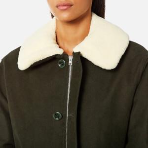 A.P.C. Women's Boreale Coat - Kaki Militaire: Image 5