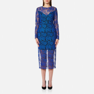 Diane von Furstenberg Women's Tailored Midi Dress - Klein Blue