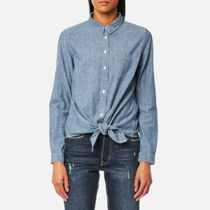 Levi's Women's Liza Tie Shirt - Medium Light Wash