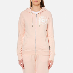 Superdry Women's Athletic League Loopback Zip Hoody - 90's Baby Pink Marl