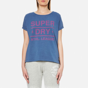 Superdry Women's Athletic Leisure T-Shirt - 90's Mid Blue Marl