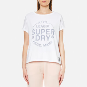Superdry Women's Athletic Leisure T-Shirt - Optic White