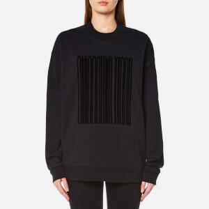 Alexander Wang Women's Oversized Barcode Sweatshirt - Onyx