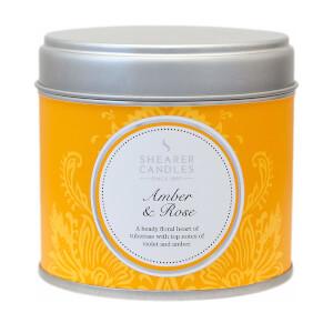 Home Fragrance Tin - Large - Amber & Rose