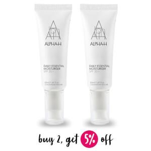 Buy 2 Alpha-H Daily Essential Moisturiser SPF 30+ 50ml And Save