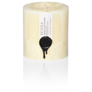 ECOYA Sweet Pea And Jasmine Natural Small Pillar Candle