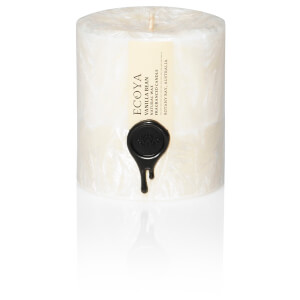 ECOYA Vanilla Bean Natural Small Pillar Candle
