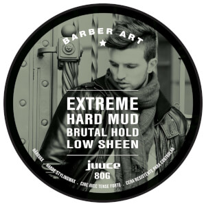 Juuce Barber Art Extreme Hard Mud Brutal Hold Low Sheen 80g