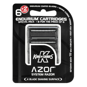 King of Shaves Azor 6+2 Free Cartridge Pack (4 Blade)