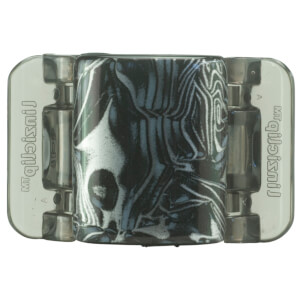 Linziclip Midi Claw Clip - Black And Grey Swirl