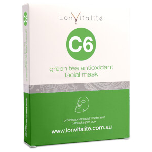Lonvitalite C6 Green Tea Antioxidant Facial Mask 5Pk
