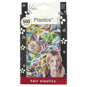 Mia Plastics Coloured Hair Elastics x 500