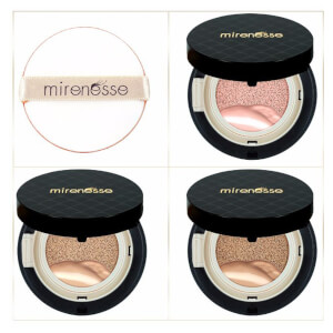 mirenesse 4 Piece Starter 10 Collagen Cushion Liquid Powder and Blush Mini Pack - Medium 8g