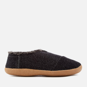 TOMS Men's Wool House Slippers - Black