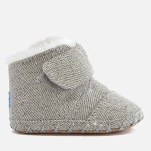TOMS Babies' Cuna Layette Herringbone Boots - Drizzle Grey