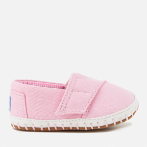 TOMS Babies' Crib Alpargata Layette Canvas Pumps - Pink