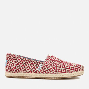 TOMS Women's Seasonal Classic Diamond Geo Slip On Pumps - Red