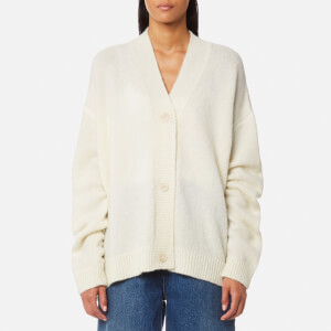 MM6 Maison Margiela Women's 5 White Stitching Cardigan - Off White