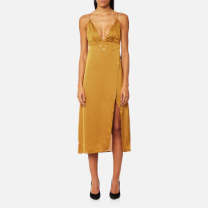 For Love & Lemons Women's Twinkle Midi Dress - Olive
