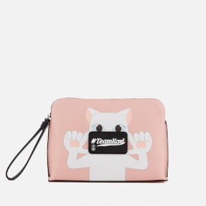 Karl Lagerfeld The Photographer Team Karl Choupette Pouch - Pink