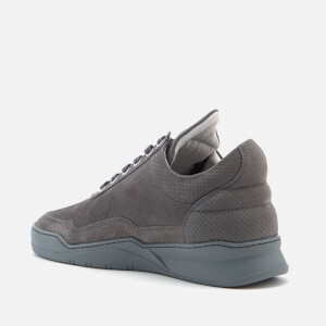 Filling Pieces Ghost Perforated Suede Low Top Trainers - Dark Grey: Image 4
