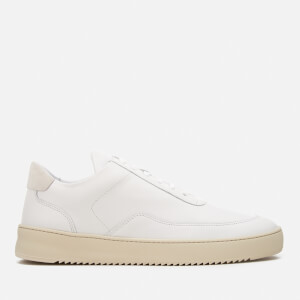 Filling Pieces Men's Mondo Ripple Low Top Trainers - White/Off White