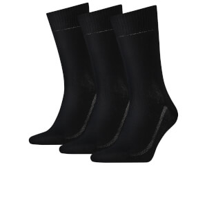 Levi's Men's 3 Pack Crew Socks - Black