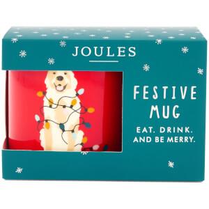 Joules Festive Single Porcelain Mug - Dog
